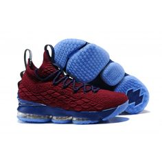 0465be50a6df Cheap 2017 Men Nike Lebron 15 Basketball Shoes Red Blue Cross Training Shoes