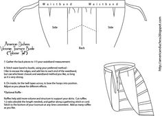 V346: How to Make a Victorian Bustle - Pattern and Instructions