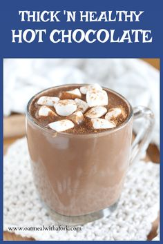 A little trick gives this hot chocolate recipe a thick and luscious texture WITHOUT the need for extra sugar or fat! Healthy Hot Chocolate, Hot Chocolate Recipes, Best Gluten Free Recipes, Vegan Recipes, Healthy Treats, Healthy Drinks, Top Food Allergies, Sweet Life, Smoothie Recipes