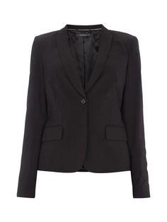 ESPRIT-COLLECTION Blazer mit steigendem Revers und Stretch-Anteil in Grau / Schwarz online kaufen (4300181) ▷ P&C Online Shop Österreich Shops, Blazer, Jackets, Fashion, Grey, Black, Trousers, Down Jackets, Moda