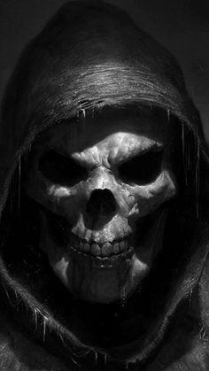 Grim Reaper Art, Grim Reaper Tattoo, Cy Twombly, Skull Tattoo Design, Skull Tattoos, Dark Fantasy Art, Totenkopf Tattoo Arm, Anonymous Mask