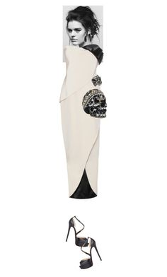 """""""Tallulah #5987"""" by canlui ❤ liked on Polyvore featuring Zuhair Murad, Lagos, Christian Louboutin, Judith Leiber, Lanvin, GetTheLook and MetGala"""