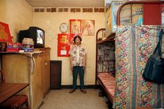 German photographer Michael Wolf takes 100 pictures of 100 Hong Kong homes which measure square feet. Tiny House Big Living, Small Space Living, Living Spaces, Tiny House Wood Stove, Michael Wolf, Wolf Photography, Student Room, Tiny House Bathroom, Space Architecture
