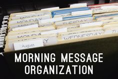Idea for organizing morning messages