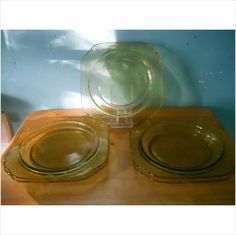 YELLOW MADRID-AMBER by FEDERAL GLASS CO DEPRESSION GLASS on eBid United States