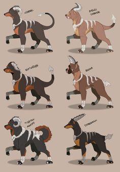 "Houndoom Variations Based Off ""Dangerous Dog Breeds"" Tibetan Massif"