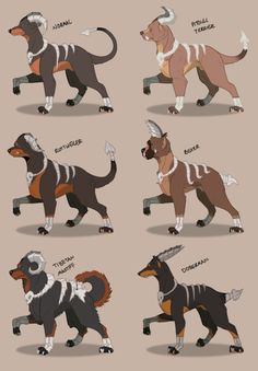 "Houndoom Variations Based Off ""Dangerous Dog Breeds"" Tibetan Massif"