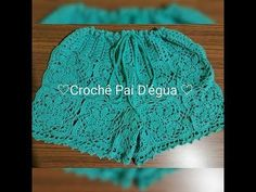 COMO fazer Short de crochê com metragem de P,M passo a passo - YouTube Bikinis Crochet, Crochet Bikini Pattern, Swimsuit Pattern, Crochet Beanie Pattern, Crochet Skirts, Crochet Patterns, Easy Crochet, Crochet Baby, Short Tejidos