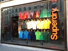 Superdry Window - Oxford Street LONDON- WOW great shop, this is now my favourite fashion store design