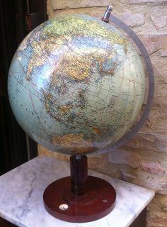 "Mappamondo anni '40 ""COLUMBUS ERDGLOBUS"" Modell 200 globe the 40s"