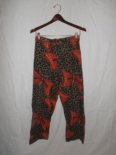 Vintage 70's  Pants      butterfly print     by ATELIERVINTAGESHOP, $40.00