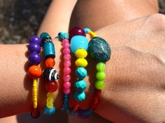 Colorful Crazy Love Wrap Around Bracelet by uniquebeadingbyme