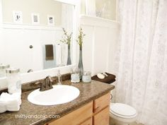 Thrifty and Chic: Cheap and Chic Board and Batten Tutorial. Love this for the upstairs bathroom.
