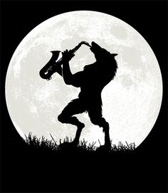 Werewolf Sax Solo T-Shirt - Funny T Shirts - Intelligently Funny Tees