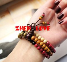 The natural sandalwood Color prayer beads 108 by Zhenlove on Etsy, $19.90
