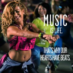 Music is life. That's why our hearts have beats. #letitmoveyou at a class near you.