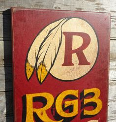 Washington Redskins SignHand Painted   faux by ZekesAntiqueSigns