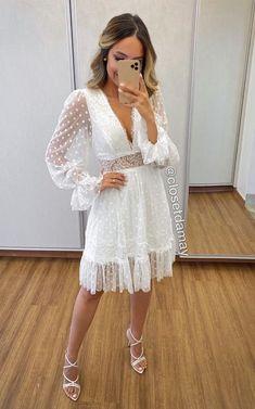 Cute Vacation Outfits, Cute Outfits, Christian Wedding Ceremony, Boho Fashion, Fashion Outfits, Sari Dress, Civil Wedding, Tamarindo, Home Wedding