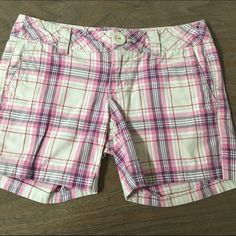 Aeropostale shorts This is a pair of good condition Aeropostale shorts size 0.  They have one button missing on back pocket Aeropostale Shorts Cargos