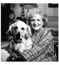 Betty White and dog :)