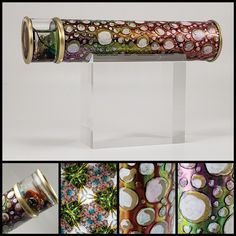 Married Metals by Sandra - Handmade Custom Kaleidoscopes & other shiny things! Kaleidoscopes, All The Colors, Metals, Copper, Bangles, Glass, Silver, Handmade, Jewelry