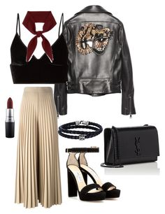 """Street Style"" by bottibott on Polyvore featuring Gucci, T By Alexander Wang, Givenchy, Jimmy Choo, Chloé, Yves Saint Laurent, Phillip Gavriel and MAC Cosmetics"