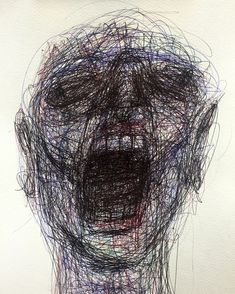 Naji Chalhoub a. Arte Horror, Horror Art, Schizophrenia Art, Mental Health Art, Depression Art, Dark Drawings, Art Brut, A Level Art, Creepy Art
