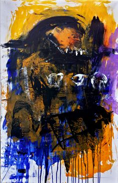 30.01.2014, ©Wolfgang Kahle, 65 x 100 cm, mixed media on canvas