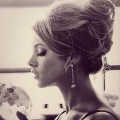 Messy High Bun for Romantic Women - a little too messy - but like the idea & volume