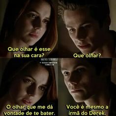 Teen Wolf Cora Hale e Stiles Teen Wolf Memes, Teen Wolf Tumblr, Teen Wolf Dylan, Teen Wolf Stiles, Dylan O'brien, Cenas Teen Wolf, Meninos Teen Wolf, Wolf Love, Text Pictures