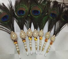 Thali Decoration Ideas, Diy Diwali Decorations, Home Wedding Decorations, Wedding Crafts, Coconut Decoration, Decorating With Sticks, Janmashtami Decoration, Handmade Rakhi, Desi Wedding Decor