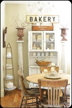 breakfast room~COTM June 2014 ▇  #Vintage #Home #Decor  via - Christina Khandan  on IrvineHomeBlog - Irvine, California ༺ ℭƘ ༻