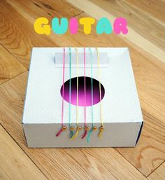 Une super Guitare DIY pour nos graines de musiciens!