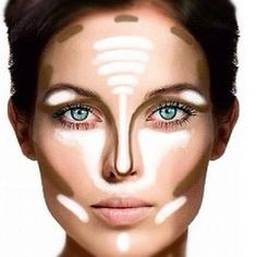 contouring make up - My favorite Make Up techinique.  Turns you into a different person!