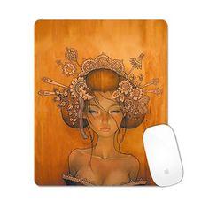 Creative Decorative Rectangle Non-Slip Rubber Mousepad Gaming Mouse Mat Girl