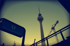 metro station / view at TV tower Metro Station, Berlin, Tower, Tv, Rook, Computer Case, Television Set, Television, Building