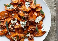 Sweet Potatoes with Stilton & Blue Cheese / 39 Delightful Ways To Eat Sweet Potatoes This Thanksgiving (via BuzzFeed)