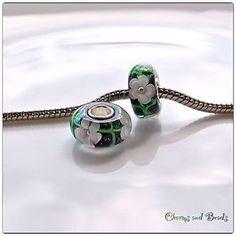 silver 925 single core glass bead/charm for european style bracelet