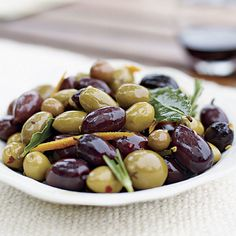Warm Marinated Olives - FineCooking