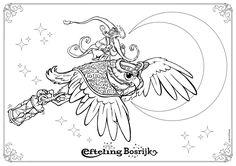 Efteling Bosrijk kleurplaat Klaas Vaak.