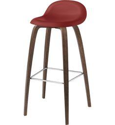 GUBI Bar stool. Материалы: сталь, полипропилен, фанера. Размеры: Ш44 х Г44 х В75/88,5 см.