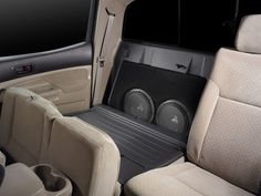 Find the Toyota Tacoma Double Cab Stealthbox® and other Vehicle-Specific Subwoofer Systems at the at the official JL Audio site. Toyota Hilux, Toyota Tacoma 2017, Toyota Tacoma Double Cab, Tacoma Trd, Toyota Tundra, Toyota Tacoma Accessories, Carros Toyota, New Trucks, Lifted Trucks
