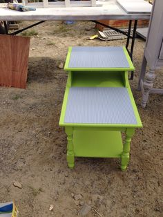 Lego table that Drake did to sell at the Brimfield flea market.