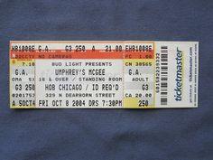 Umphrey's McGee, House of Blues, 10/8/2004, 21.00