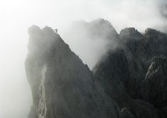 """Misty Climb by Christoph Hilger on 500px - Mountaineers in the via ferrata """"Königsjodler"""" in the Austrian Alps. Although the weather was"""