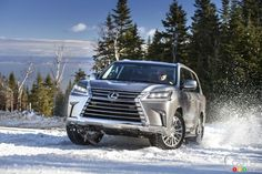 A little fun in the snow behind the #wheel of the 2016 #Lexus #LX570