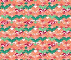 Creamsicle Mermaid fabric by graceful on Spoonflower - custom fabric