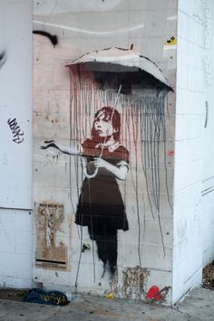Umbrella Girl - Banksy