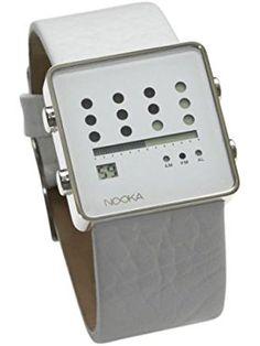 Nooka - ZOT V - White Face - White Strap ❤ Nooka