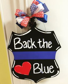 Back the Blue door hanger❤️, can't wait to start on the others